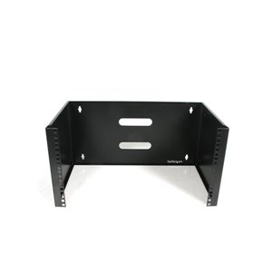 Mount networking equipment and shallow rackmount devices with this 6U wall-mountable rack