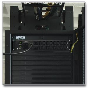 Efficient Metered Power Distribution for Network Equipment Racks