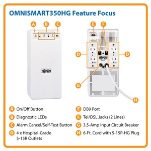 Medical-Grade, Line-Interactive 330VA/225W Power Protection for UL 60601-1 Patient Care Areas