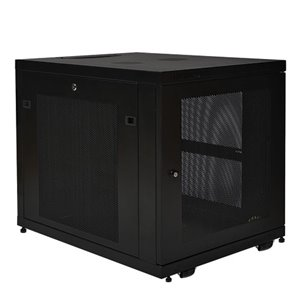12U Rack Enclosure Server Cabinet Doors & Sides 1000lb Capacity