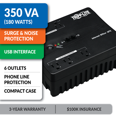 INTERNET350U Ultra-Compact Standby UPS with USB Interface