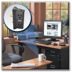 4-Outlet, Direct Plug-In Surge Protector Expands the Number of Available Wall Outlets
