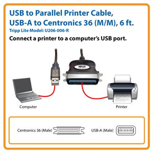 Connects a Non-USB Parallel Device to Your Computer's USB Port