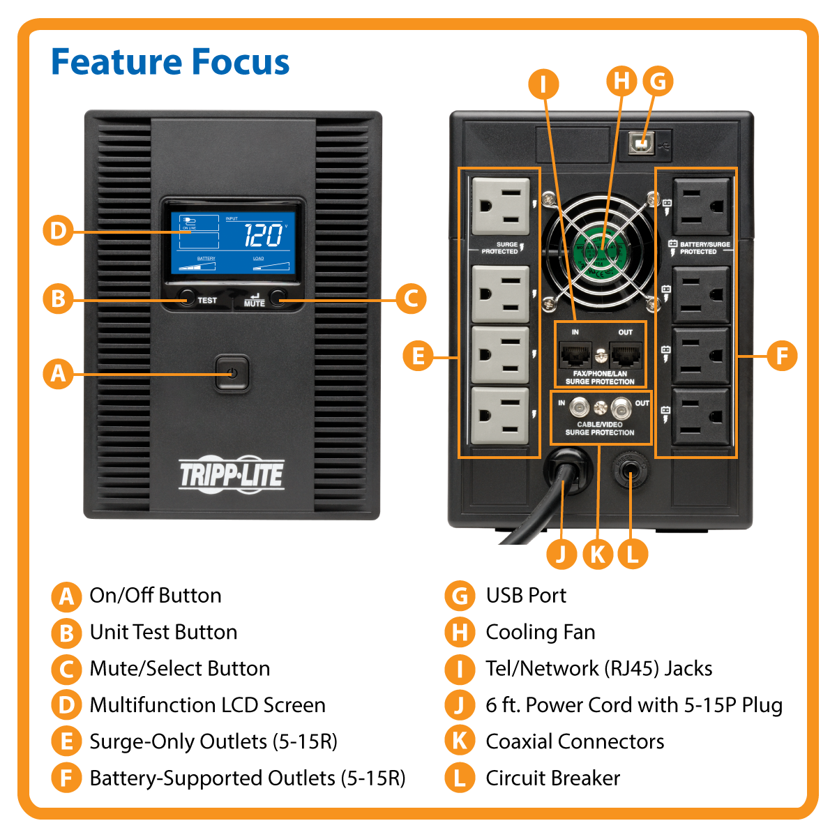 Tripp Lite Ups Smart 1300va 720w Tower Lcd Back Up Avr Coax Rj45 Usb Cable With Repeater Schematic Media