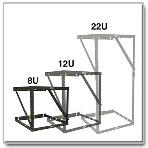 Expandable, 2-Post Wall-Mount Open Frame Rack