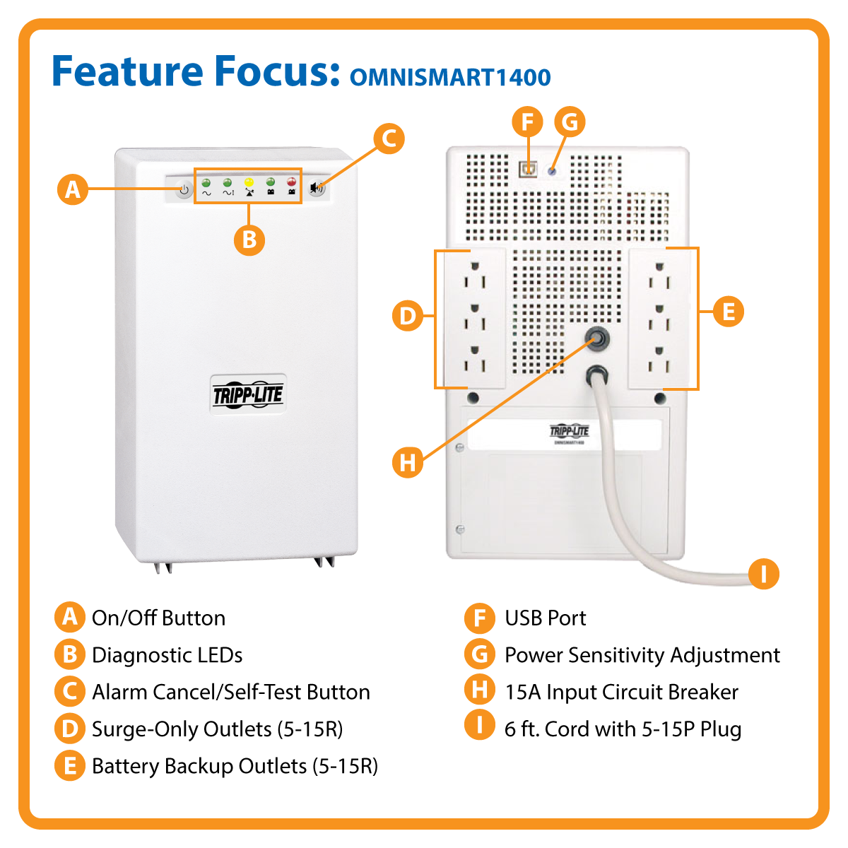 Omnismart 1400va Tower Line Interactive 120v Ups With Usb Port By Powered Hub Circuit Diagram Office Depot Officemax