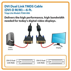 Connect a Standard DVI Monitor or Display to Your Computer Over Distances Up to 6 ft.
