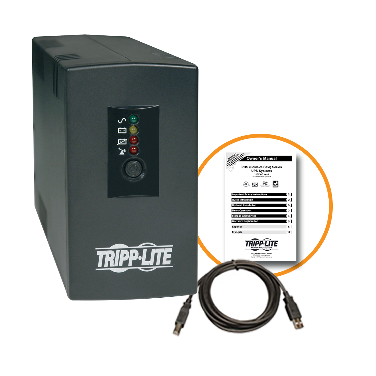 Tripp Lite 300w 500va Low Profile Ups For Kiosks Pos Pcs 120v 6 Asus A3f Laptop Block Diagram Outlet Pos500 Battery Backup Products