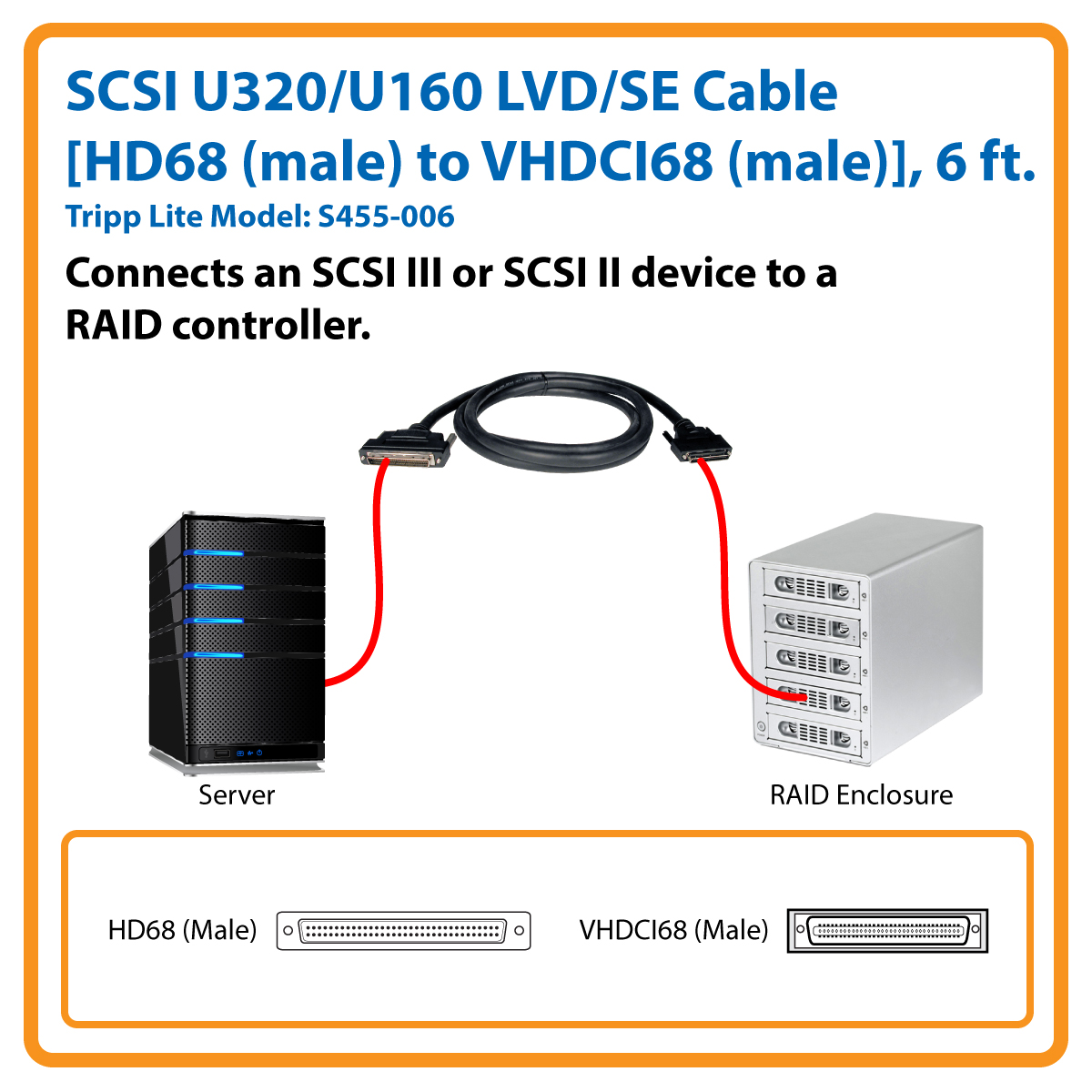 Scsi Cable Wiring Diagram Electrical Diagrams Coaxial Tripp Lite 6ft Ultra2 160 U320 Lvd Vhdci Male Hd68