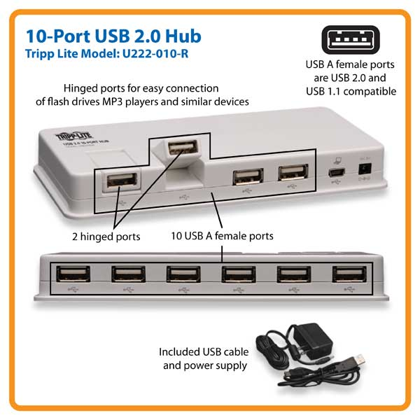 10 port usb 20 hub dell united states give your computer 10 usb 20 ports freerunsca Image collections