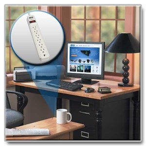 Protect Your Valuable Electronics from Damaging Power Surges, Features Extra Long 15 ft. Cord