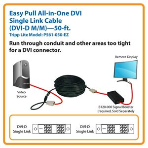 DVI Single Link Digital TMDS Monitor Easy Pull Cable-50ft