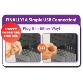 Connect a USB Device to a USB Computer with This 10 ft. Universal Reversible 2.0 Cable