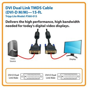Connect a Standard DVI Monitor or Display to Your Computer Over Distances Up to 15 ft.