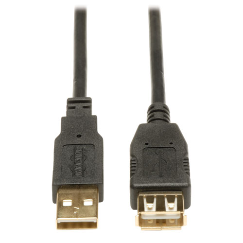 Tripp Lite 1ft USB 2.0 High Speed Extension Cable Reversible A to A M//F