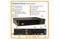 slide 1 of 8,zoom in, smart3000rm2u smartpro® line-interactive rack/tower sine wave ups with expandable runtime, network slot and lcd