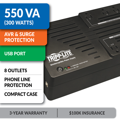 AVR550U Ultra-Compact Line-Interactive UPS with USB Port