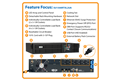 slide 1 of 5,zoom in, su1500rtxl2ua smartonline® double-conversion rack/tower sine wave ups with expandable runtime and network slot