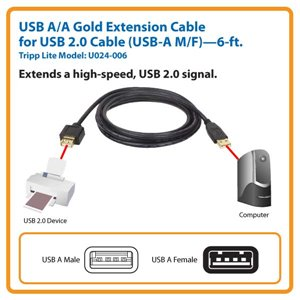 Extend a High-Speed USB 2.0 Signal Up to 6 ft.