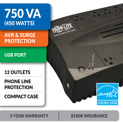 AVR750U Ultra-Compact Line-Interactive UPS with USB Port