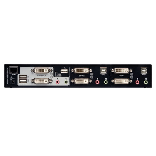 Tripp Lite 2 Port Dual Monitor DVI KVM Switch With Audio And USB 20 Hub Cables Included Office Depot