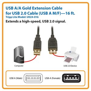 Extend a Hi-Speed USB 2.0 Signal Up to 16 ft.