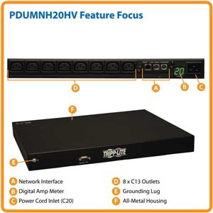 Remotely Monitored Power Distribution with 20 Amps