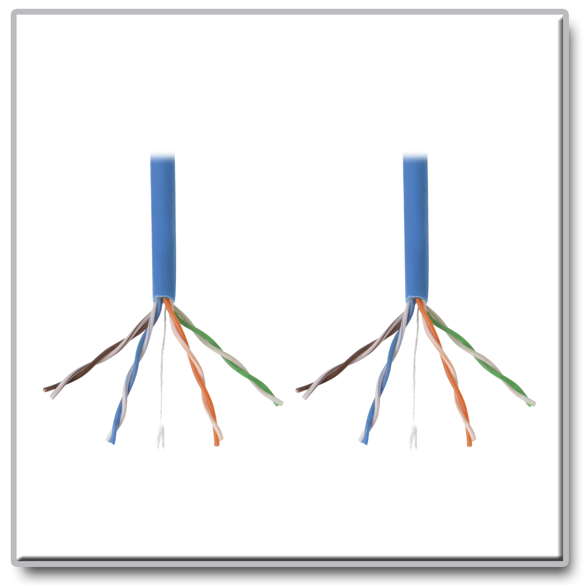 Tripp Lite 1000ft Cat5 Cat5e Bulk Cable Solid Cmr Pvc 350mhz Blue Surge Protective Device Wiring Diagram Electrial Provides Fast Transmission And Outstanding Signal Quality In Your Local Area Network
