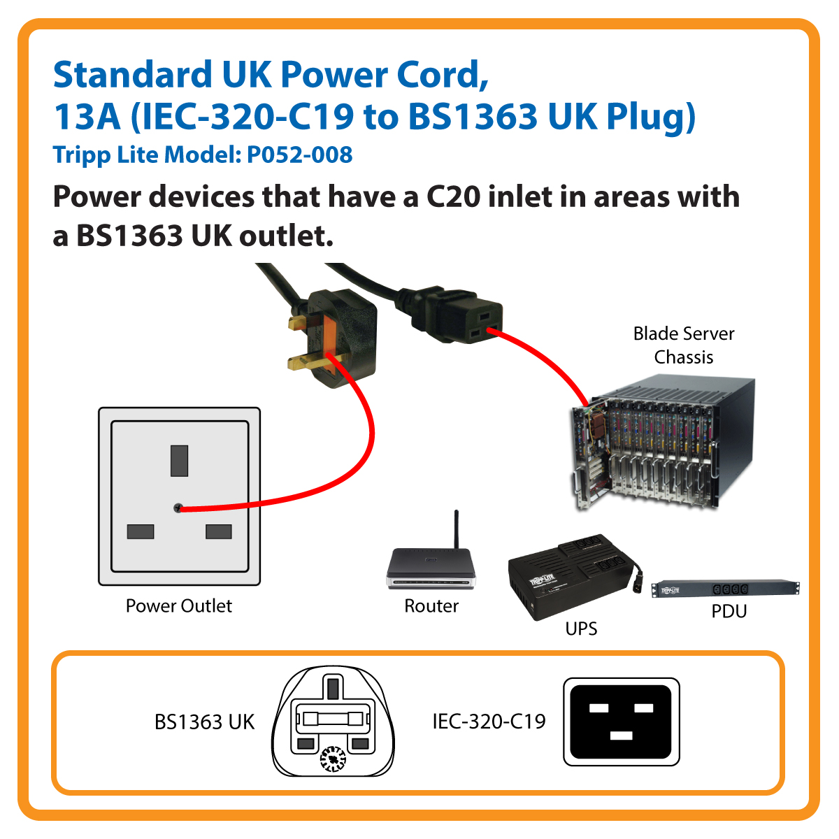 Uk Plug Wiring Diagram Page 4 And Schematics Iec Receptacle Tripp Lite 8ft Computer Power Cord Cable C19 To Bs 1363 13a Rh Officedepot