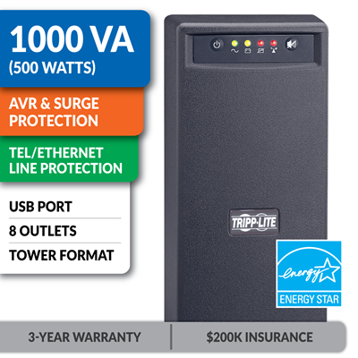 OMNIVS1000 Line-Interactive 1000VA Tower UPS with USB Port