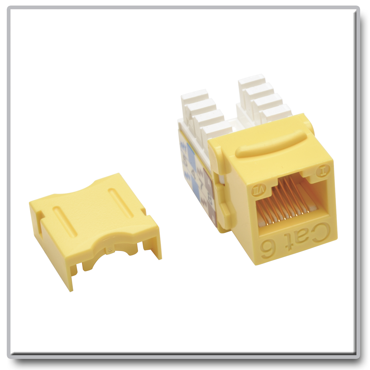 N238 001 Yw Cat6 110 Punch Down Keystone Jack By Office Depot Wiring Slide 1 Of 1show Larger Image Cat5e Style