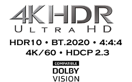Ready for 4K HDR entertainment®