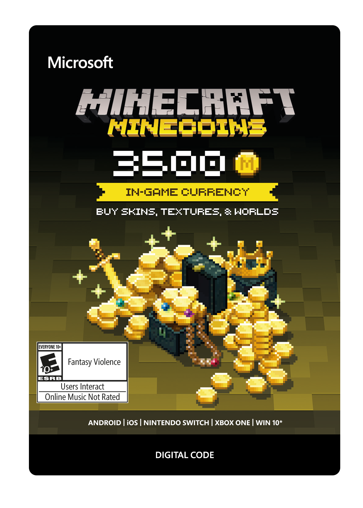 Xbox Minecraft Minecoins 3500 Coin In-game Currency [Digital Code] -  Newegg com