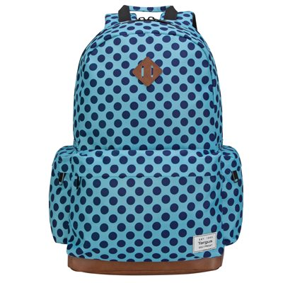 "Targus 15.6"" Strata Backpack (Aqua & Blue Dots) (TSB93606GL)"