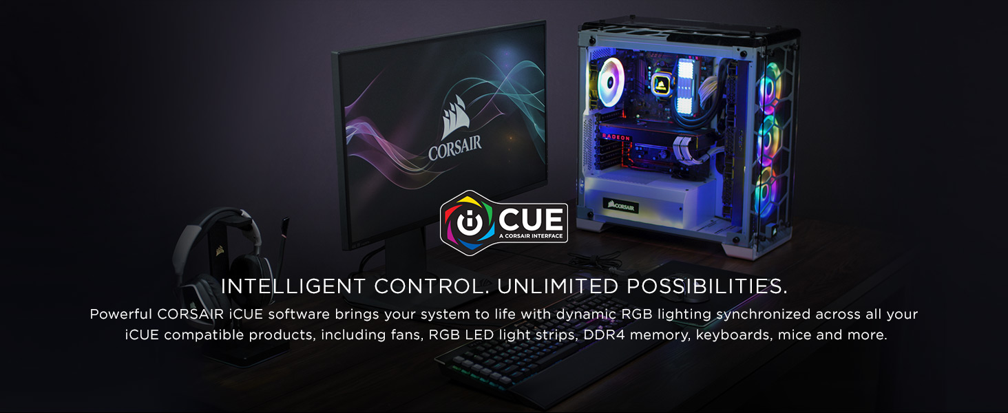 Corsair iCUE 220T RGB Airflow CC-9011173-WW Black Computer Case - Newegg com