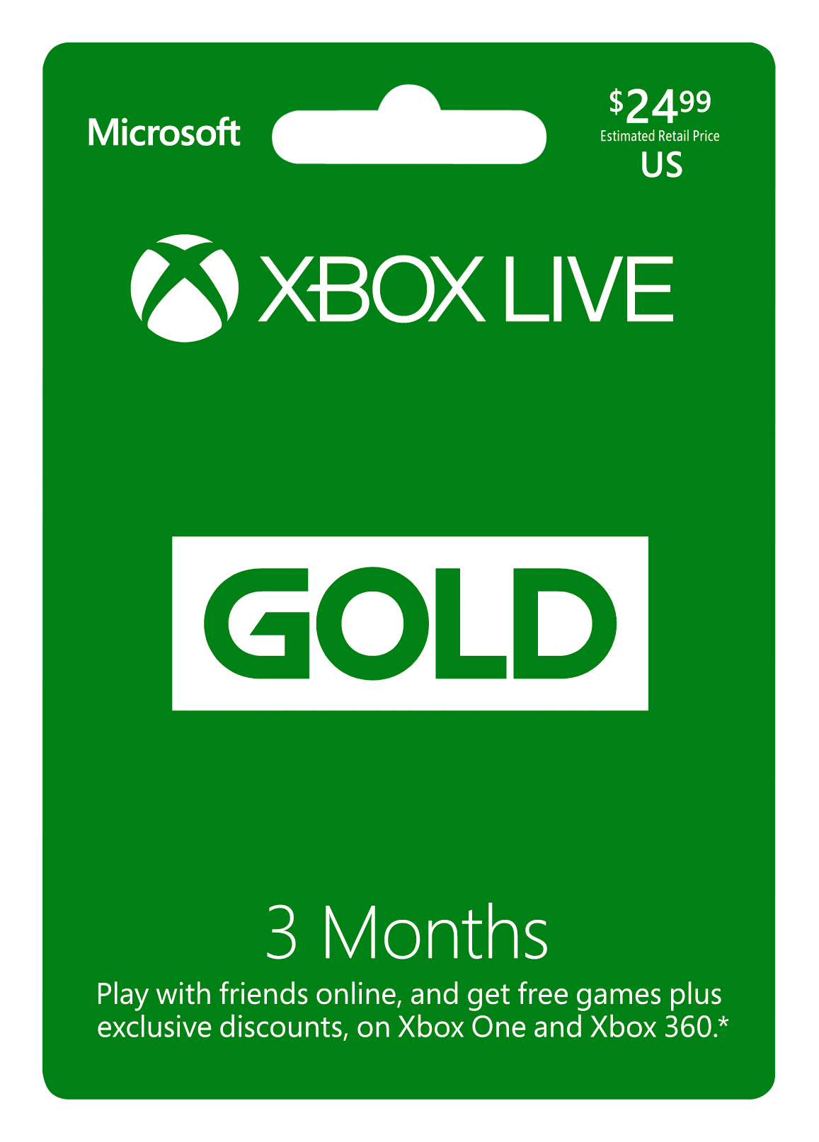 Buy 3 Month Xbox Live Gold