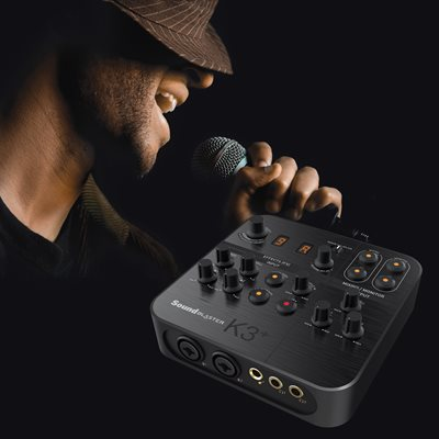 Sound Blaster K3+ USB-Powered Recording and Streaming Mixer / AMP / DAC