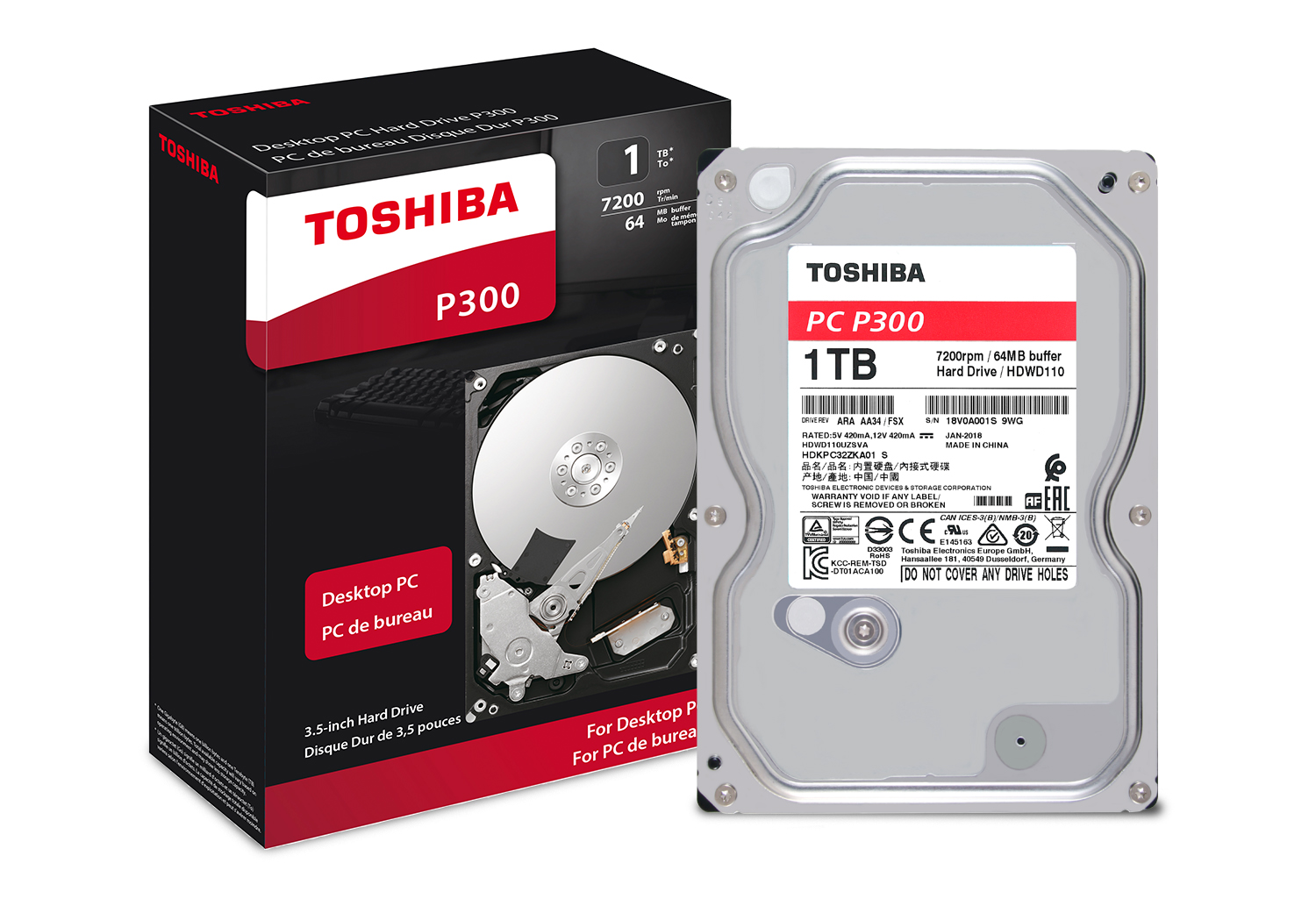 Toshiba P300 1tb Desktop Pc Internal Hard Drive 7200 Rpm Sata 6gb S 1600 Xp Wiring Diagram Media