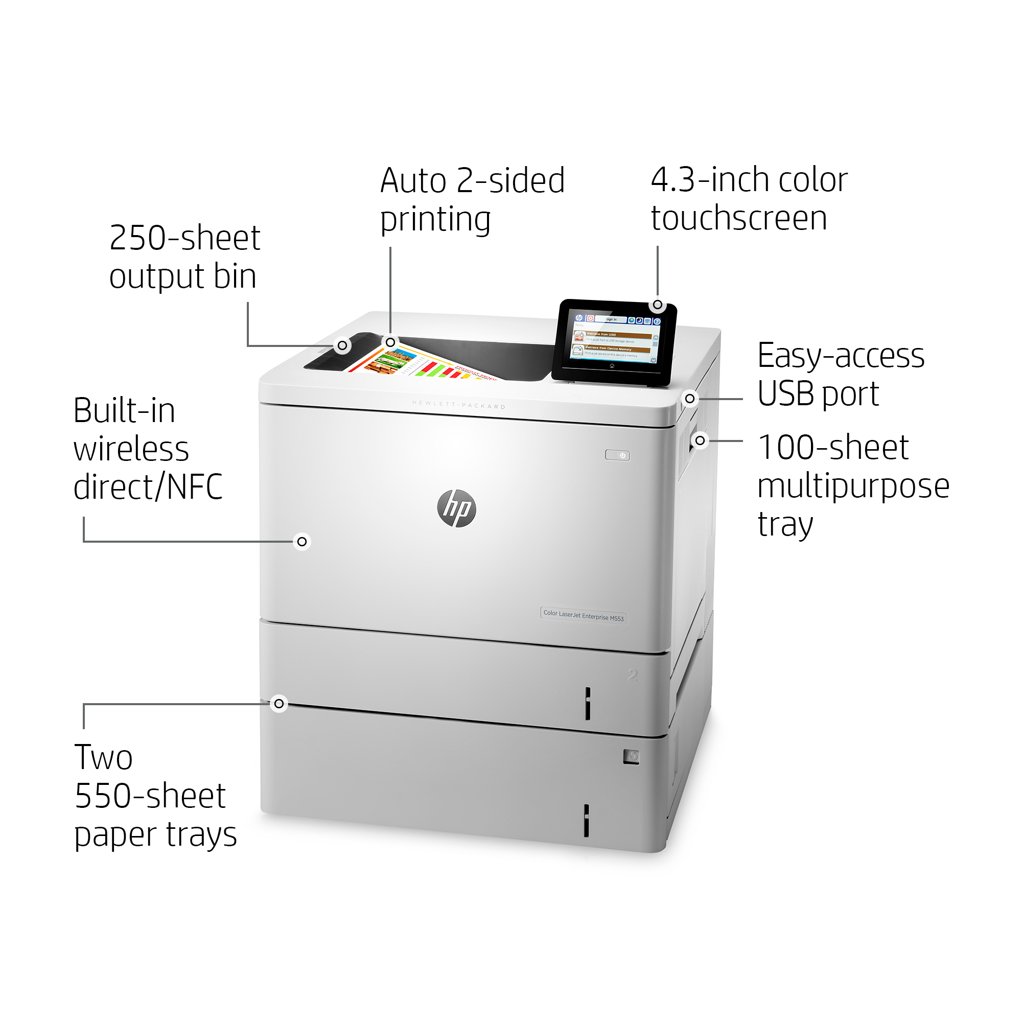 Product | HP Color LaserJet Enterprise M553x - printer - color - laser