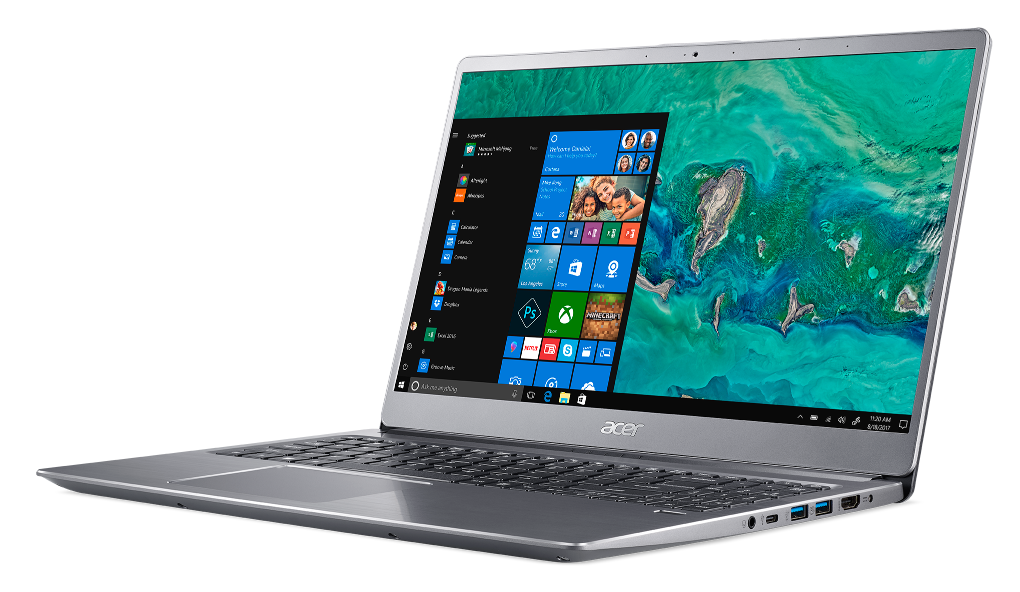 Buy Acer Swift 3 156 Inch I5 8gb 256gb Laptop Silver Laptops 2 Way Hdmi Switch Argos And Netbooks