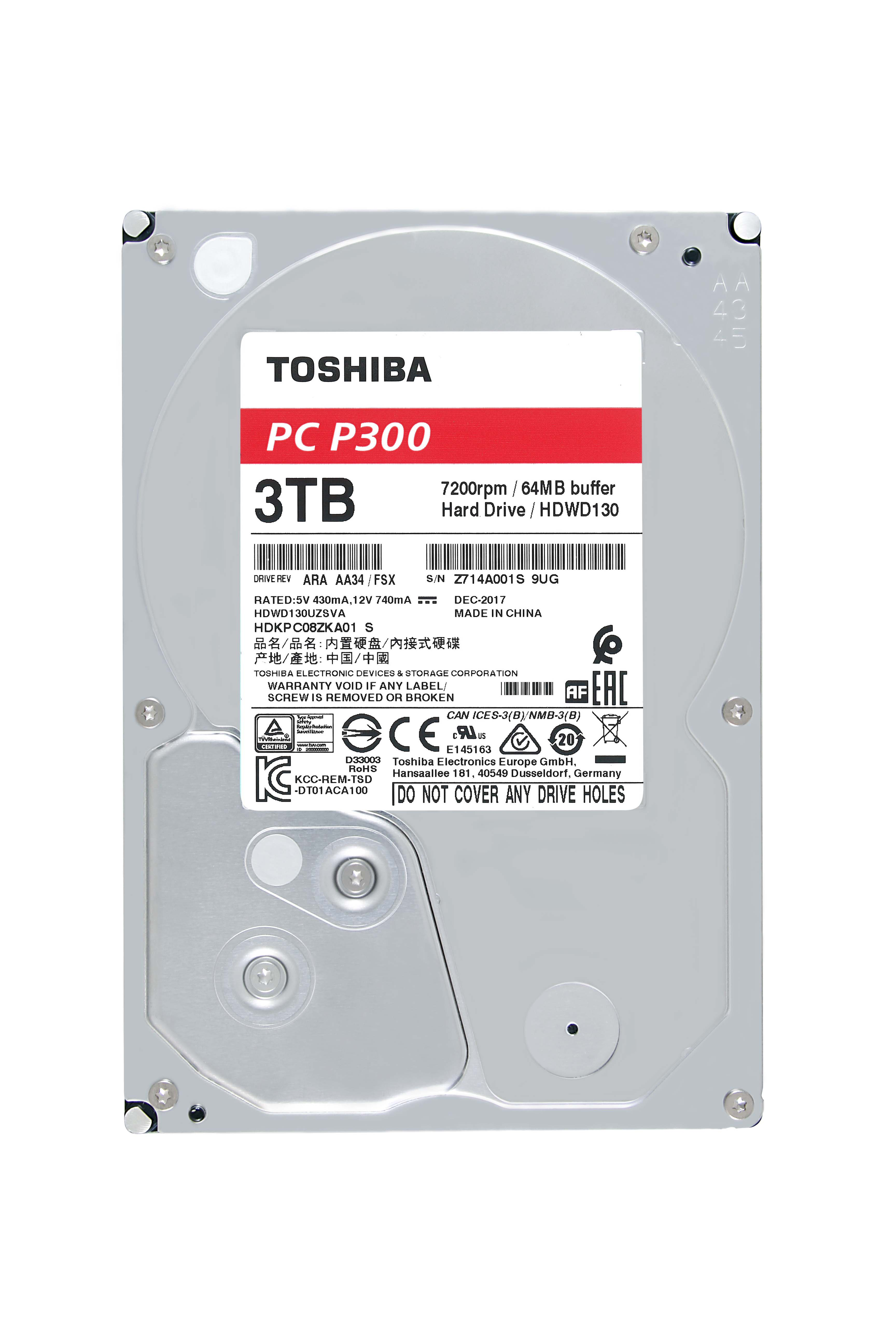 Toshiba P300 3tb Desktop Pc Internal Hard Drive 7200 Rpm Sata 6gb S This Gadget Is A Circuit Board Alarm Clock From Recycled 64 Mb Cache 35 Inch Hdwd130xzsta Retail Package