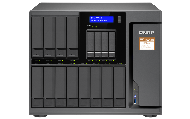 slide 1 of 9,show larger image, versatile, high-performance 16-bay desktop nas, powered by the marvell armada 8040 processor