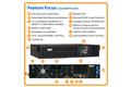 slide 1 of 5,zoom in, su2200rtxl2ua smartonline® double-conversion rack/tower pure sine wave ups with expandable runtime and network slot