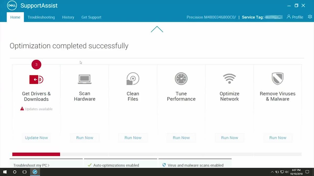 SupportAssist features overview. Watch video.