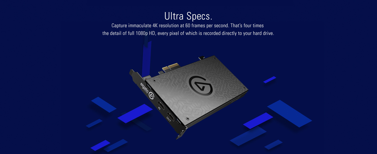 Elgato Game Capture 4K60 Pro, 4K 60fps Capture Card With Ultra-Low Latency  Technology for Streaming and Recording Playstation 4, Xbox One and Nintendo