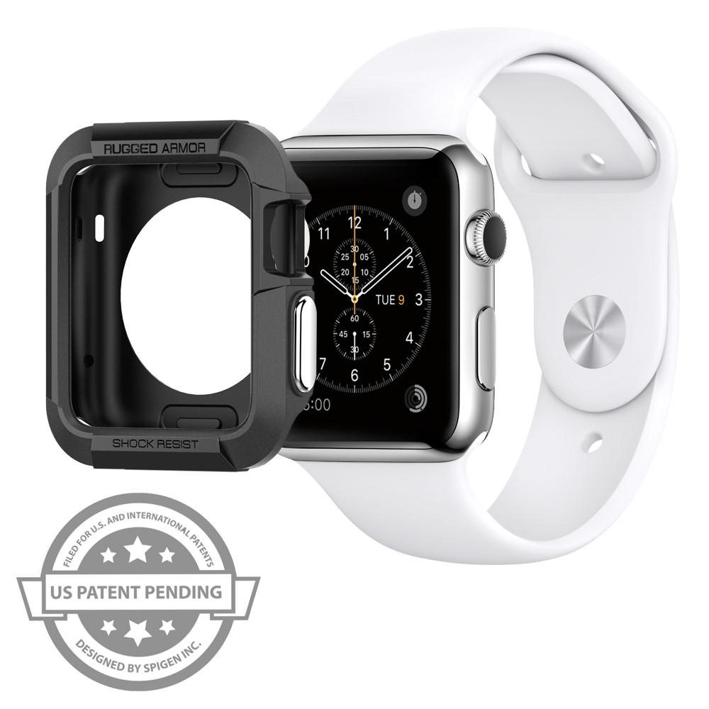 the latest 32955 db5f4 Spigen Rugged Armor for Apple Watch Series 3/2/1 - 42mm - Black - SGP11496