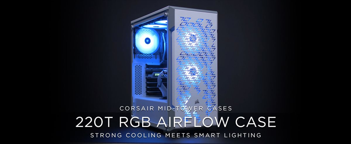 Corsair iCUE 220T RGB Airflow Tempered Glass Mid-Tower Smart