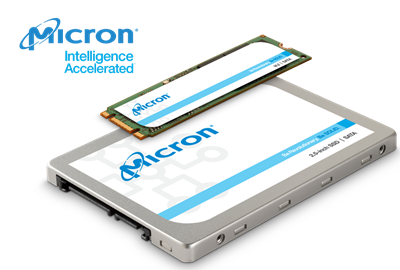 The Micron® 1300 SATA solid state drive (SSD)