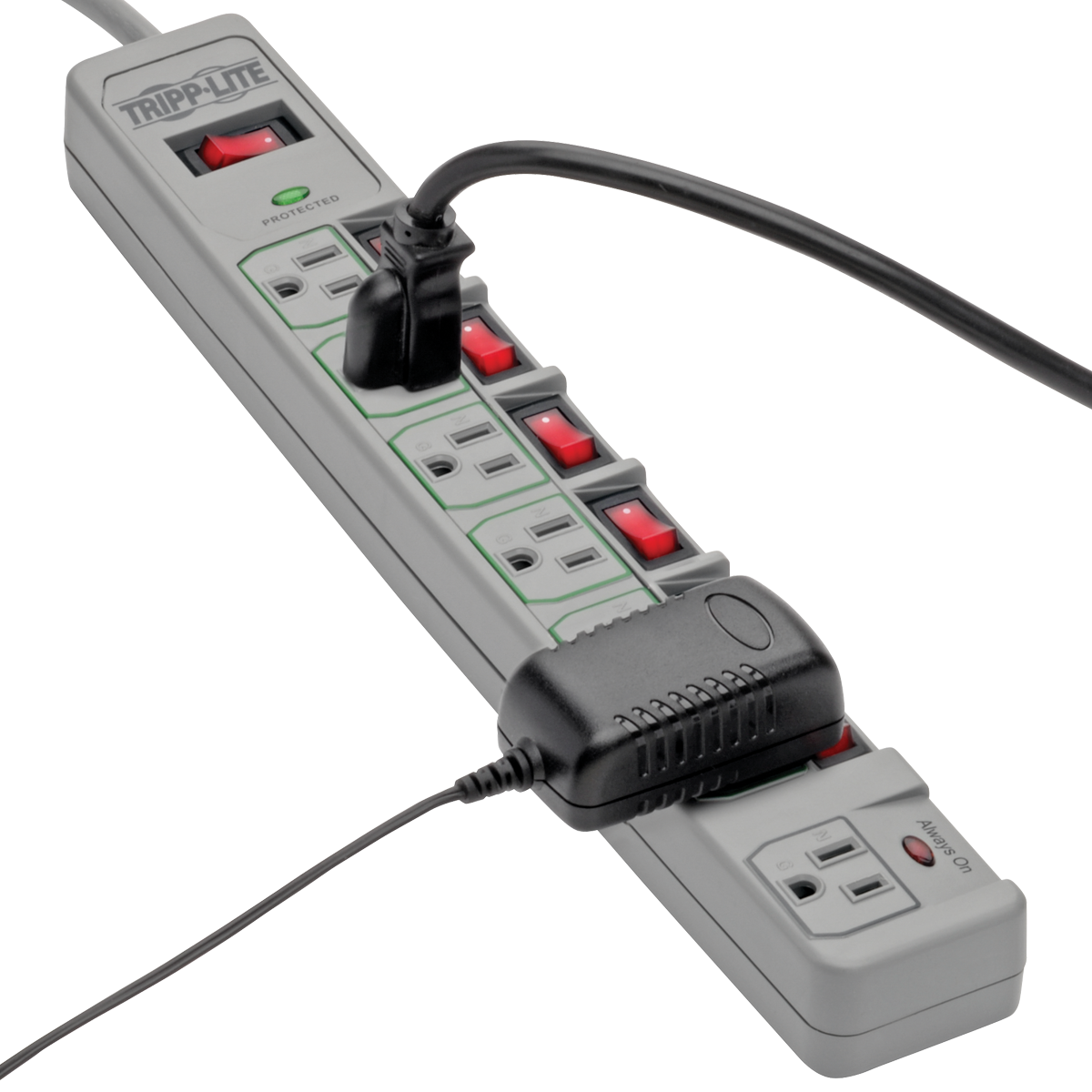Tripp Lite 7 Outlet Surge Protector Power Strip 6 Feet Cord 1080 Icing Kit Further Master Appliance Heat Gun On 120v Tape Wiring Media