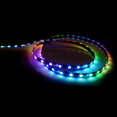 OUTSHINE THE COMPETITION WITH THE ASUS ROG ADDRESSABLE RGB 5050 LED  LIGHTING STRIP FEATURING MAGNETIC BACKING,